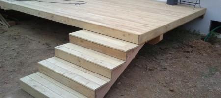 terrasse, escalier Acacia
